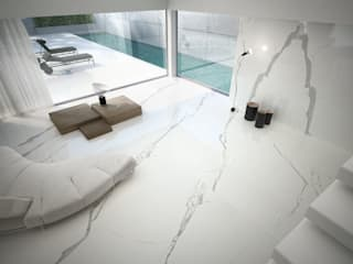 Maxfine Tiles Large Format Porcelain Floor & Wall Tiles Paredes e pisos modernos por Tile Supply Solutions Ltd Moderno
