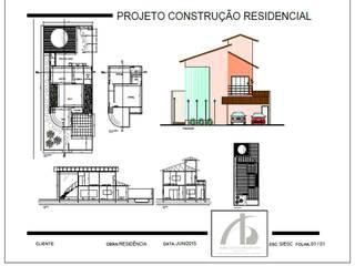 Projetos residenciais por Adrieli Santos Arquiteura