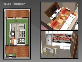 Projekty,  Salon zaprojektowane przez Adrieli Santos Arquiteura, Nowoczesny