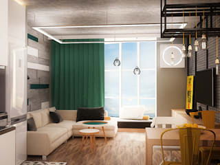 Cosy loft Гостиная в стиле лофт от Надежда Шульга Лофт
