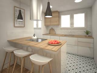 Grupo Inventia Cocinas de estilo moderno Madera Acabado en madera