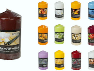 Scented Pillar Candles:   by The London Candle Company