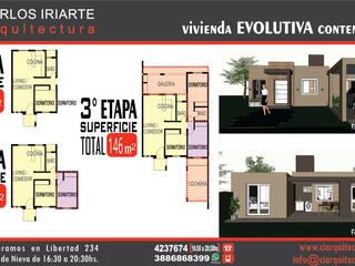 Vivienda en San Salvador de Jujuy: Casas de estilo  por Carlos Iriarte arquitectura