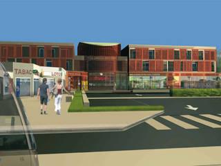 Rénovation globale du centre commercial Marie-Stuart Espaces commerciaux modernes par Léandre Porte Architecture Moderne