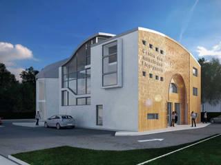 Création de deux Centres Culturels Lieux d'événements modernes par Léandre Porte Architecture Moderne