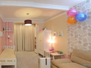 Дизайн проект однокомнатной квартиры 45 кв м для семьи с ребенком: Детские комнаты в . Автор – Студия интерьера Дениса Серова