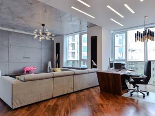 Квартира 150 м2 проект на стадии реализации: Гостиная в . Автор – zzburo