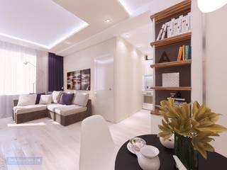 Студия интерьера Дениса Серова Modern living room White