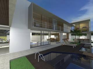DAMHA II Casas modernas por BAOS arquitetura + construtora Moderno