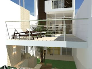 CASA A. COELHO Casas modernas por BAOS arquitetura + construtora Moderno