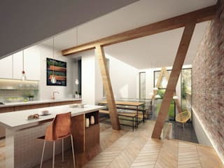 Passivhaus Retrofit Manchester Modern kitchen by guy taylor associates Modern