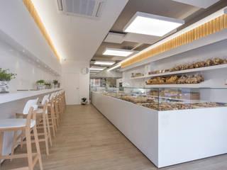 DFG Architetti Associati Gastronomie moderne Bois Effet bois