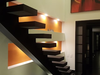 Modern Corridor, Hallway and Staircase by homify Modern Concrete