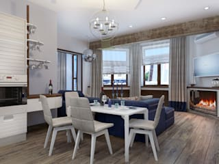 ДизайнМастер Dapur Gaya Mediteran Blue