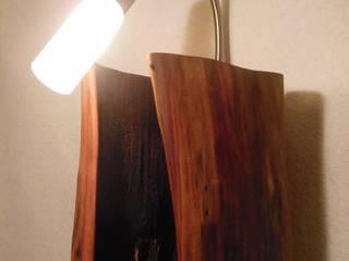 Wandlampe! Holzlampe!:  Flur & Diele von Holzsteinkunstobjekte
