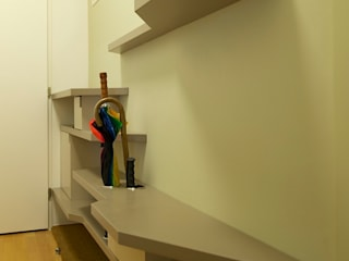 3rdskin architecture gmbh Eclectic corridor, hallway & stairs