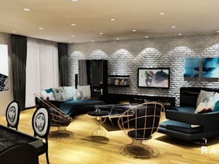RADIO TPU – Goker Residence: eklektik tarz tarz Oturma Odası