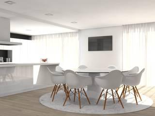 Moradia - Vila Verde: Cozinhas  por Equevo - Interiores Design