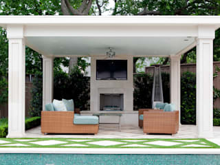 Entertaining Garden - Transitional Landscape Design by Matthew Murrey Design Eclectic