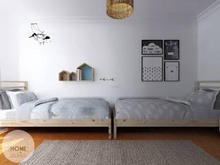 O quarto do João e do Henrique: Quartos de criança  por Homestories,Escandinavo