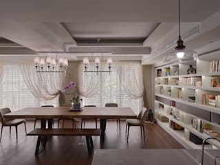 Salle à manger de style  par AIRS 艾兒斯國際室內裝修有限公司, Scandinave