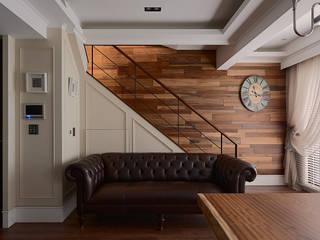 Couloir et hall d'entrée de style  par AIRS 艾兒斯國際室內裝修有限公司, Scandinave