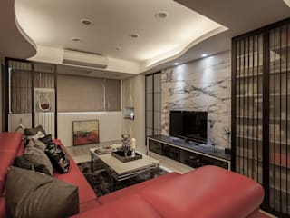 Living room by Green Leaf Interior青葉室內設計