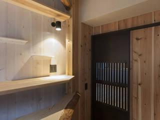 なかそとなかの家の子供部屋(和モダンリノベーション) 和風デザインの 子供部屋 の 森村厚建築設計事務所 和風 無垢材 多色