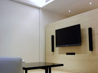 Salones de estilo  de AIRS 艾兒斯國際室內裝修有限公司, Moderno