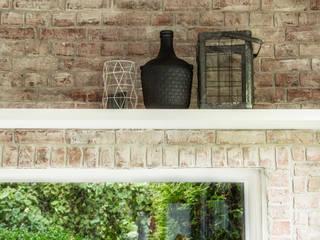 Industriële bakstenen muur bij in huis!:   door StonePress