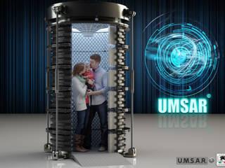 STUDIO DE ROSA : PROGETTO U.M.S.A.R. © - Unità Minima di Sopravvivenza Antisismica Residenziale: Casa in stile  di Studio De Rosa