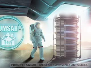 Studio DE ROSA : Progetto U.M.S.A.R.© - Unità Minima di Sopravvivenza Antisismica Residenziale: Casa in stile  di Studio De Rosa