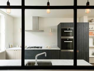 The Marylebone Kitchen by deVOL deVOL Kitchens Industrial style kitchen Wood Blue