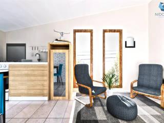 NidoSur Arquitectos - Valdivia Moderne Wohnzimmer