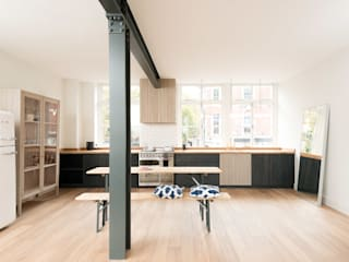 The Clerkenwell Apartment by deVOL deVOL Kitchens Industrial style kitchen Blue
