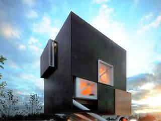 CASA QH: Casas de estilo moderno por Iridium Render Arquitectura