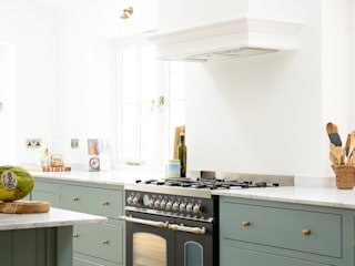 The Trinity Blue Kitchen by deVOL deVOL Kitchens Scandinavian style kitchen Blue