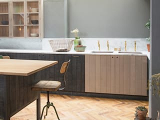 The London Basement Kitchen by deVOL deVOL Kitchens Industrial style kitchen Blue