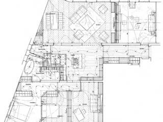 Plan projeté: Cuisine de style  par Philippe Ponceblanc Architecte d'intérieur