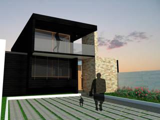 Casa Quilpue Gen Arquitectura & Diseño Casas estilo moderno: ideas, arquitectura e imágenes Piedra Negro