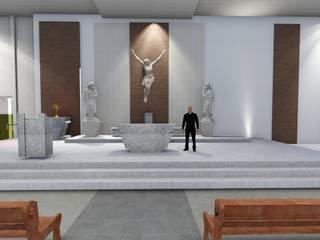 Capela Imaculada Conceição: Locais de eventos  por Arquitetura- Barreto
