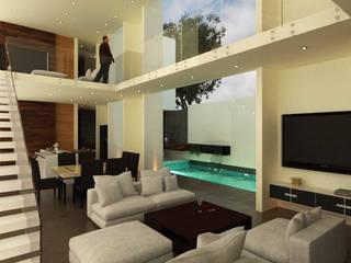 Casa Viento : Salas de estilo  por Fermin de la Mora