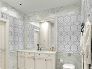 Elalux Tile Moderne badkamers Marmer Grijs