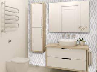 Elalux Tile Moderne badkamers Marmer Wit