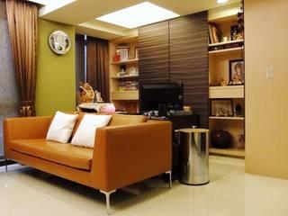 Salas de estilo ecléctico de AIRS 艾兒斯國際室內裝修有限公司 Ecléctico