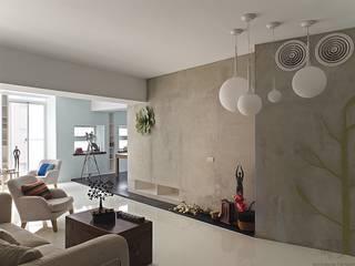 Salas de estar industriais por 禾光室內裝修設計 ─ Her Guang Design Industrial Concreto