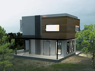MAHAL MİMARLIK – Bodrum Villa-Site Tasarımı:  tarz Villa