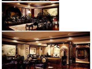 Salas de estilo asiático de AIRS 艾兒斯國際室內裝修有限公司 Asiático