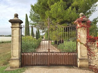 Embellir l'entrée d'une propriété avec un joli portail et ses piliers en pierre par Provence Retrouvée