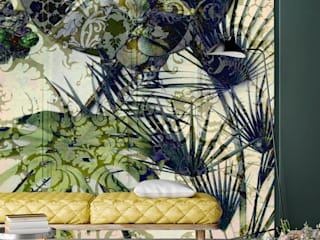 Secret Garden Wallpaper Collection by La Aurelia Art & Walls La Aurelia Parede e pavimentoPapel de parede Verde